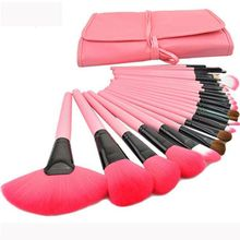 cheap wooden makeup brushes,pink makeup brush set 24 belt packaging set(PR2157)