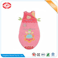 Stuffed soft cotton fabric embroidered baby sleeping bag