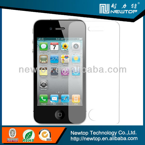 2.5D 9h oleophobic coating 0.2mm tempered glass screen film for Iphone 5 5s