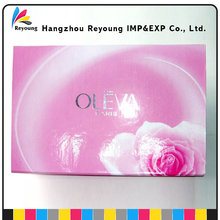 OEM gloss UV cosmetic packaging paper folding box printing