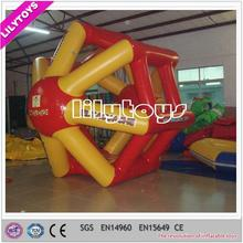 OEM professional China floating water roller wheel, floating adult water toy, water game for pool