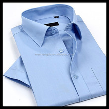 High quality fancy cheap price hand made pure blue shirt women