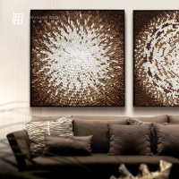 Hand-made modern Firber Art Painting for home and hotel decor with high quality