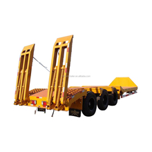 Tri-axle Heavy duty Excavator transportation truck lowbed semi trailer for sale