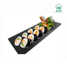 28*10cm cheap mini black serving cheese sushi food dinner slate stone plate