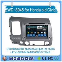 WD-8046 FOR left hand dvd player for Honda old Civic car multimedia&radio gps navigation support wifi bluetooth multi-language