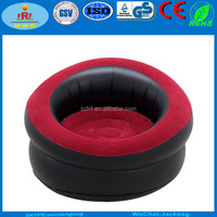Cylindrical Single Inflatable Flocked Air Sofa