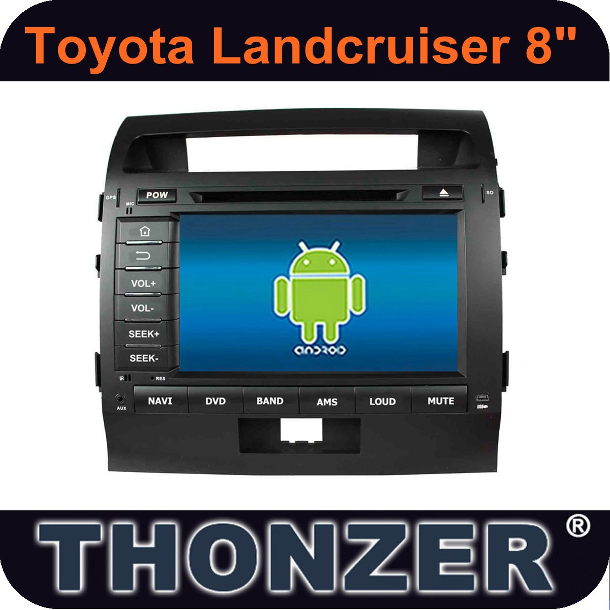 Pure Android 8inch Car PC for Toyota Landcruiser (2008-2012)
