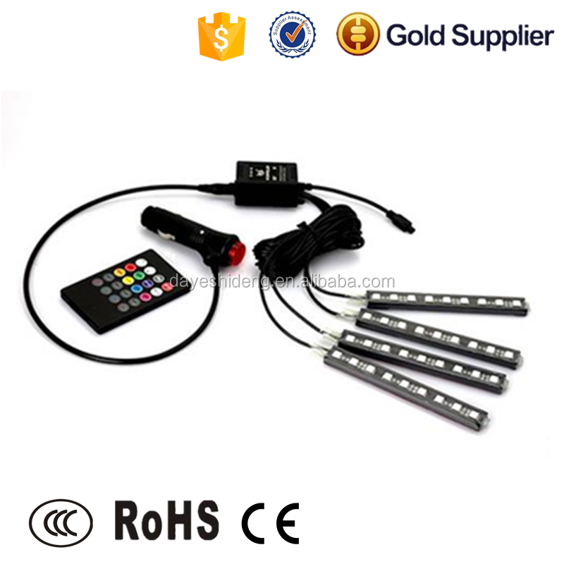 15CM 4 in 1 RGB color Car 5050 smd led mood strip lights