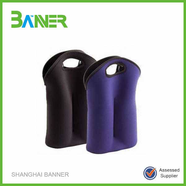 China factory lowest promotional price neoprene bottle cooler bag