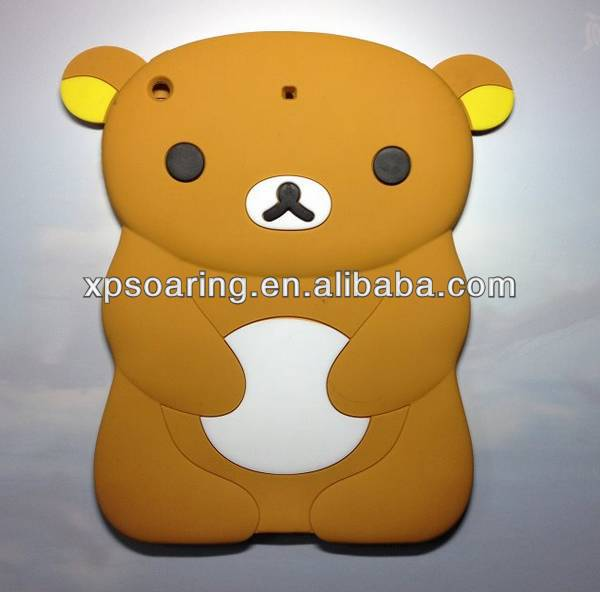 Smart bear soft silicone case for ipad air ipad 5