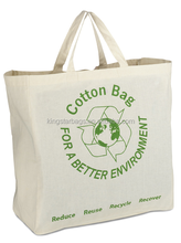 3R for a better environment quilted cotton bags totes