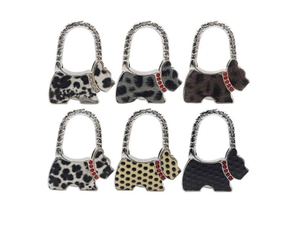 Factory price zinc alloy  color dog  table hook folding handbag hanger
