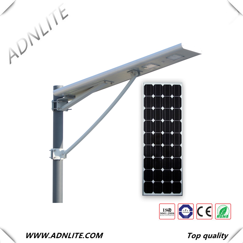 150lm/w 30W 40W 60w all in one solar street light system with solar panel