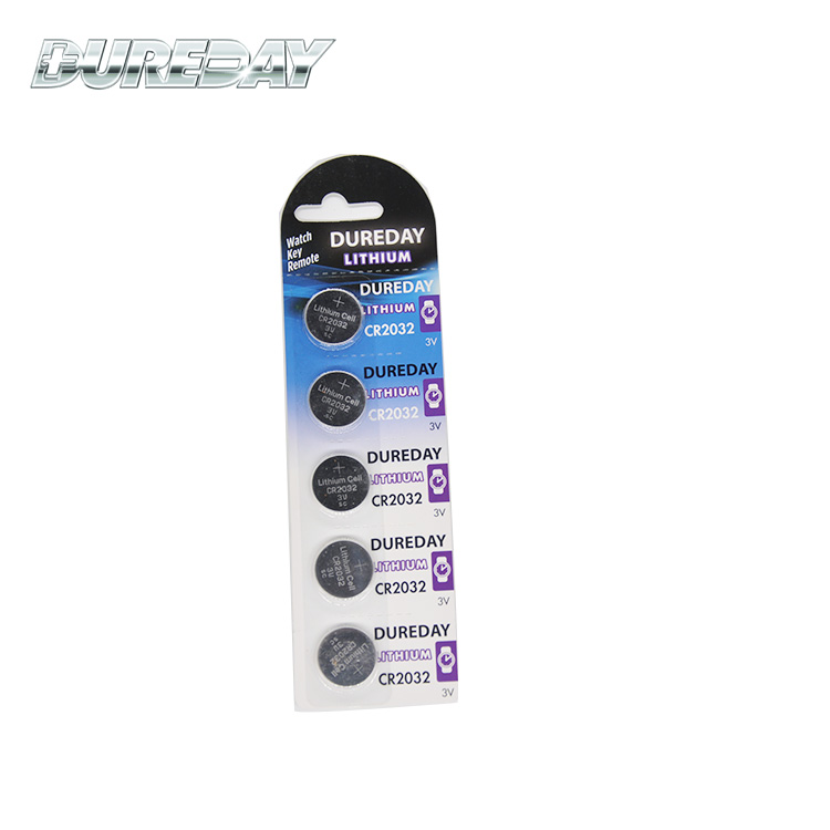 CR2032 lithium button battery with long life span 3V