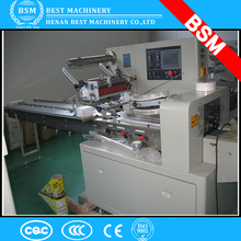 Nigeria low price candy biscuit flow pack machine/cookie pillow packing machine