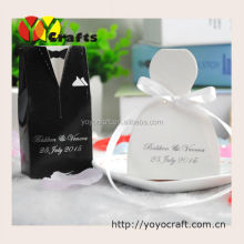Sweet box supplies tuxedo and bride wedding favours chocolate candy box for wedding decor