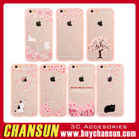 2016 New fashion style flower TPU clear cell phone case for iphone 6