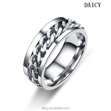 DAICY cheap simple stainless steel chain rotating engineers iron ring sale