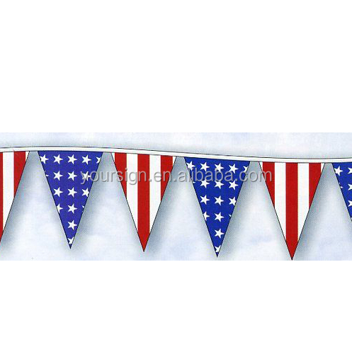 pvc printing decorative flags banners bunting