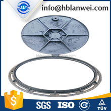 Iron Material and Construction Application LOCKABLE AND HINGED MANHOLE COVER