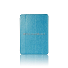 eye catching fashion blue three pattern pu tablet case cover for ipad air 2 folder stand laptop case cover