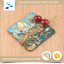 Manufacturer fashionable natural wooden coasters tea for holiday