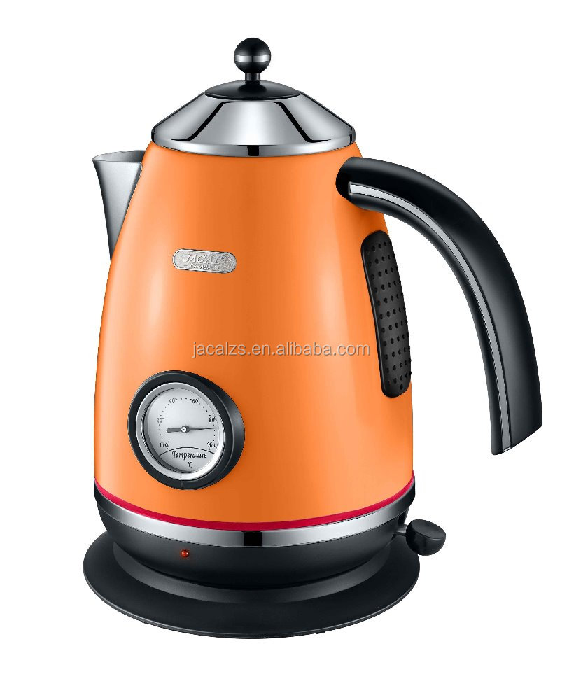 home small appliance premium 1.7 L stainless steel electric kettle with temperature display