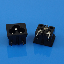 New Type 250V IEC C5 3 pin female to male electrical plug adapter
