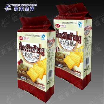 side gusset bag type biscuit and cracker packaging gravure printing plastic bag