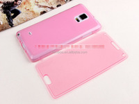 Colorful Clear Flip TPU Skin Gel Silicone Case Cover For Samsung Galaxy Note 4