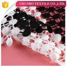 Textile Fabrics Fancy Embroidery Design lace border curtains for home
