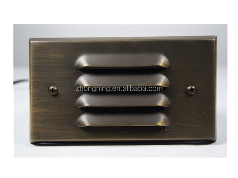 IP44 brass outdoor led wall light
