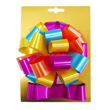 Christmas Ribbon Plastic Ribbon Bow Making Material/Fancy Glitter pull bow for party decorative