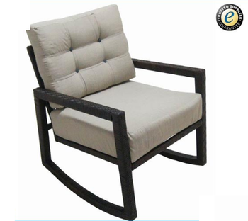 Outdoor Garden Rocking Chair Wicker Rattan Rocking Lounge Chair