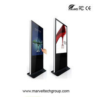 42 Inch Wireless Stand Alone Digital Signage , Network LCD Video Display