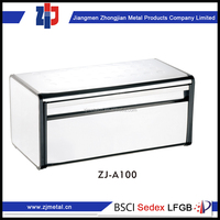 hot sale top quality best price stainless steel bread box with window with glass lid