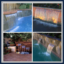 garden landscaping acrylic waterfall LED remote control
