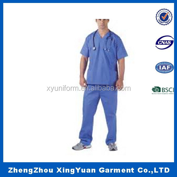 100% cotton blue lab coats orm design