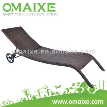 AB 1912 new design wicker rattan lounger