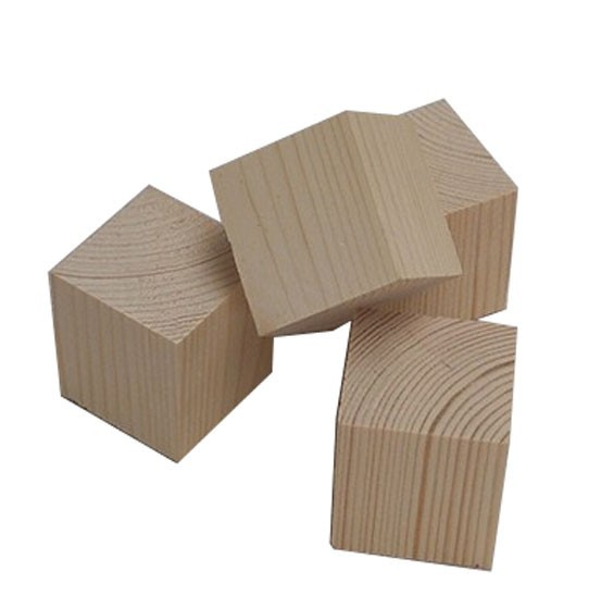 50mm No paint pollution-free wood cube toy solid Wooden cube building blocks