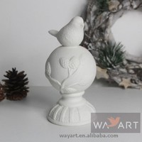 Christmas Ceramic Bird On The Ball Decors for Home decoration