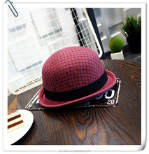 2016 fashion wool formal felt hat lady wool bowler hat