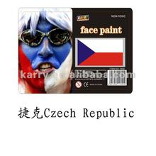 TARGET Audited Supplier,Czech Republic national flag non-toxic face paint