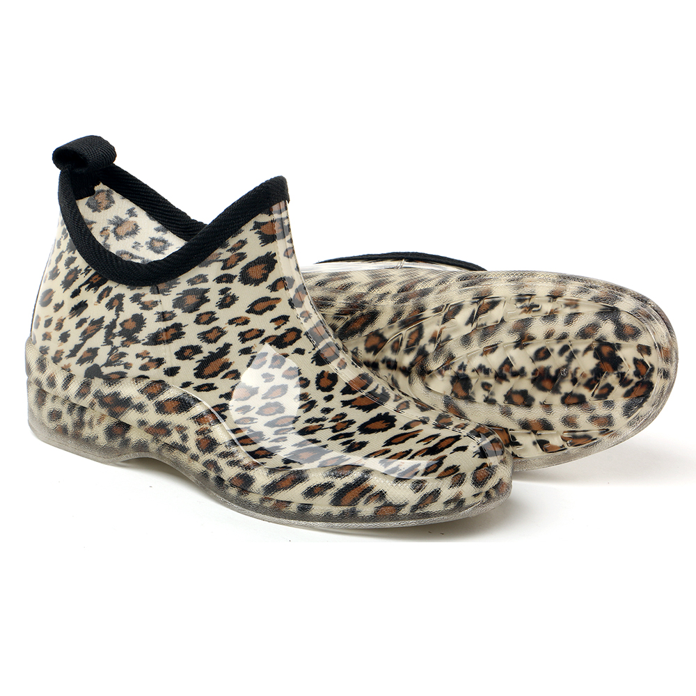 The cheapest ankle boots leopard rain boots