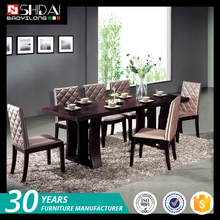Competitive price formal wooden mdf modern dining furniture room sets