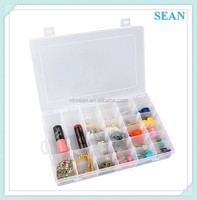 24 Compartments Adjustable Plastic Electronics Parts Gadgets Tool Storage Box Case Craft Beads Jewelry Box