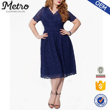 Best Price dress making lace fabric oversize casual style for fat women