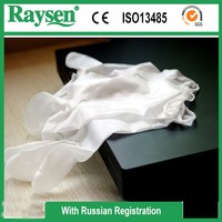 Disposable Powder free or powdered Pvc Examination Gloves For Medical Use with OEM
