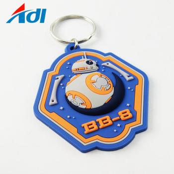 Hot sell competitive price 2D custom rubber soft PVC football teams shirt keyrings for sale